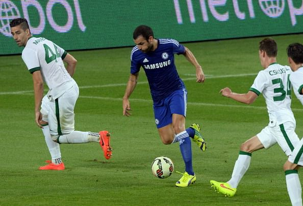 Highlights: Fabregas and Ramires score in Chelsea's 2-1 win over Ferencvaros, Drogba injured