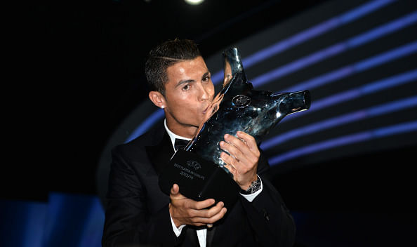 Cristiano Ronaldo beats Arjen Robben and Manuel Neuer to win UEFA Best Player in Europe award