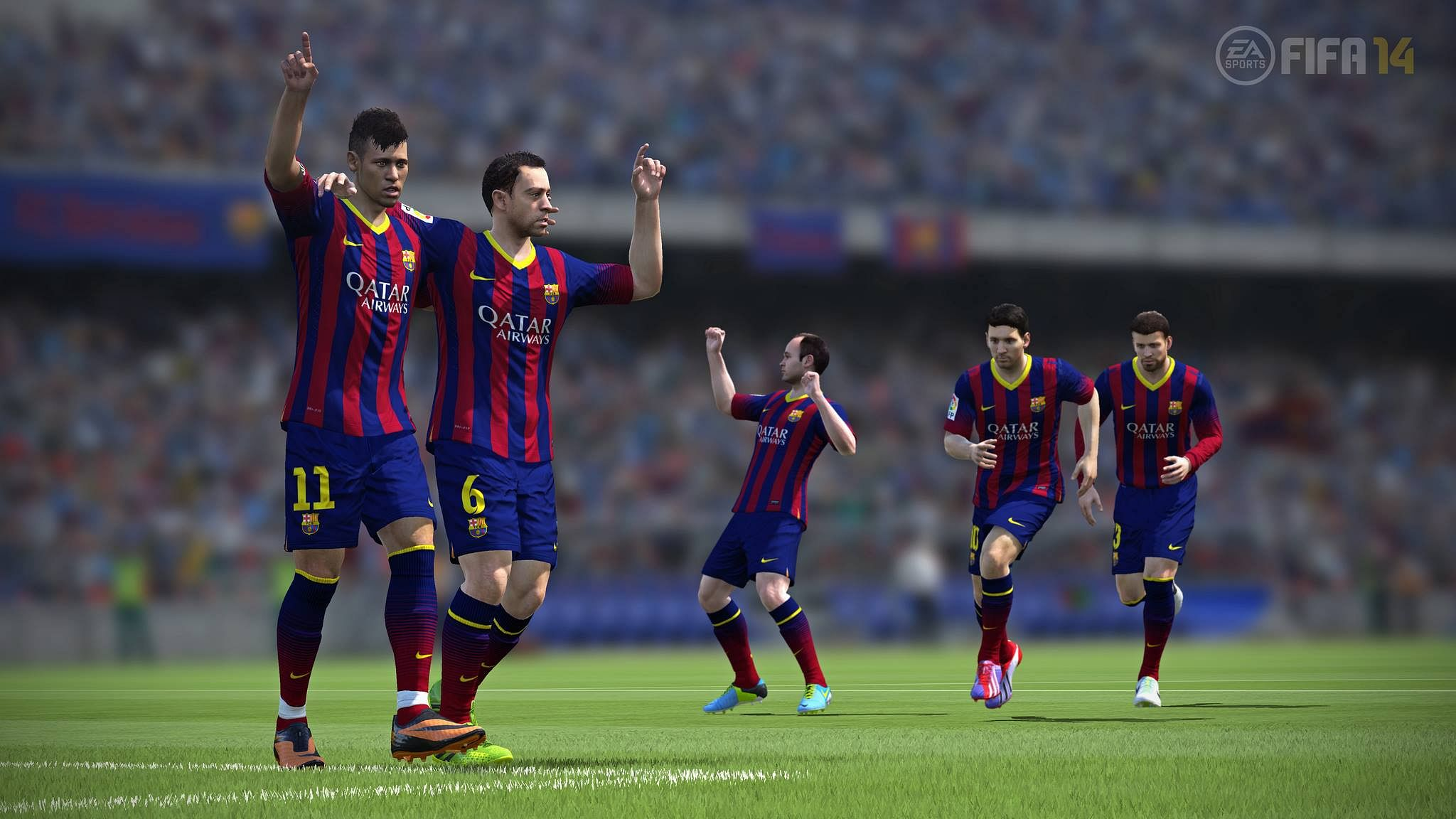 Best FIFA 14 formation for Barcelona