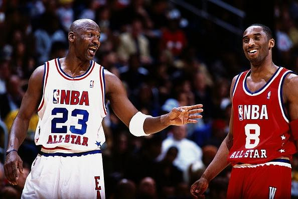 A video shows how the games of Michael Jordan and Kobe Bryant are identical
