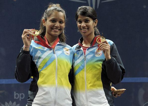 Dipika Pallikal and Joshna Chinappa get warm welcome back home