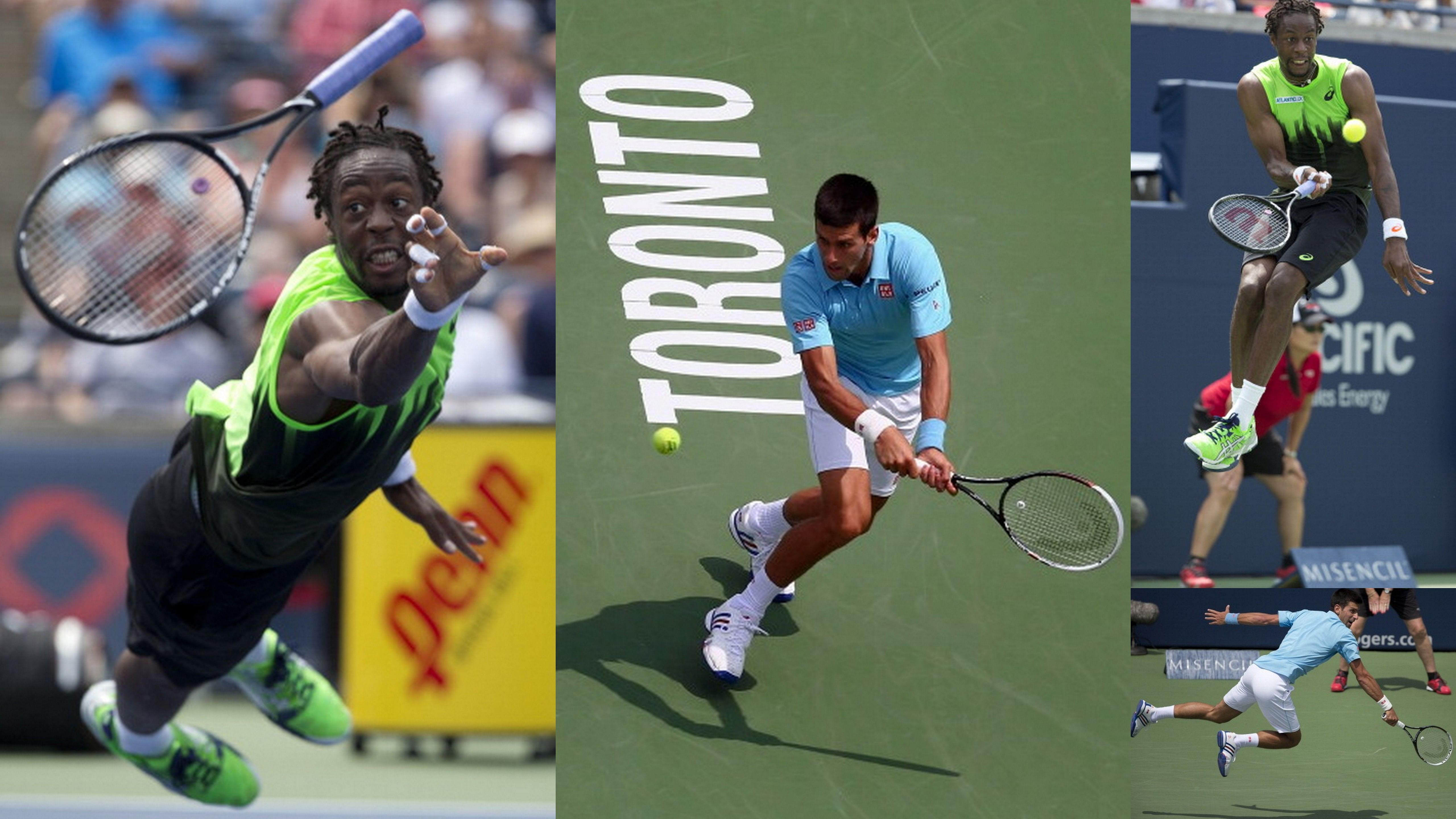 Gael Monfils and Novak Djokovic jointly create tennis magic in Toronto