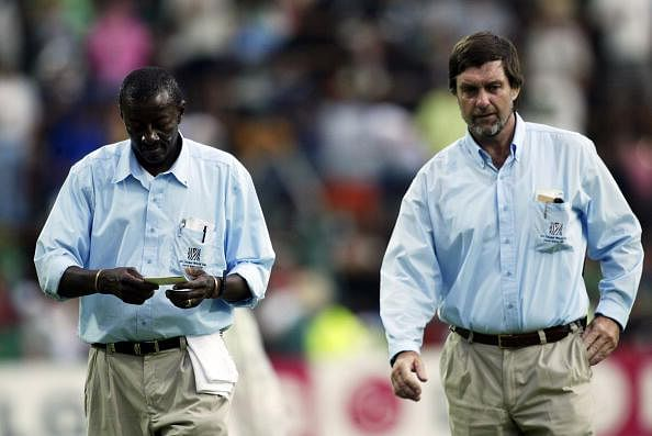 English umpires Peter Willey and George Sharp refuse to retire at the age of 65