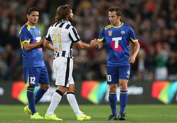 A-League All Star 2-3 Juventus: Del Piero re-unites with former team-mates