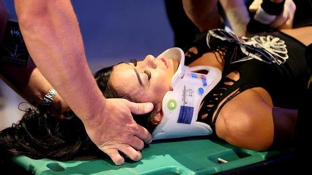 WWE Divas champion AJ Lee injured on Smackdown