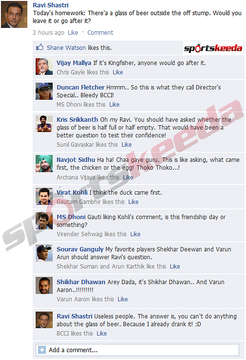 FB Wall: Ravi Shastri gives Team India some homework before the 3rd ODI