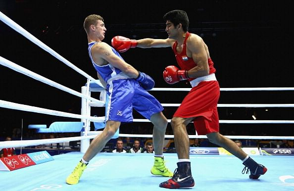 Commonwealth Games 2014: Vijender Singh moves into 75-kg final; Mandeep Jangra in 69-kg final