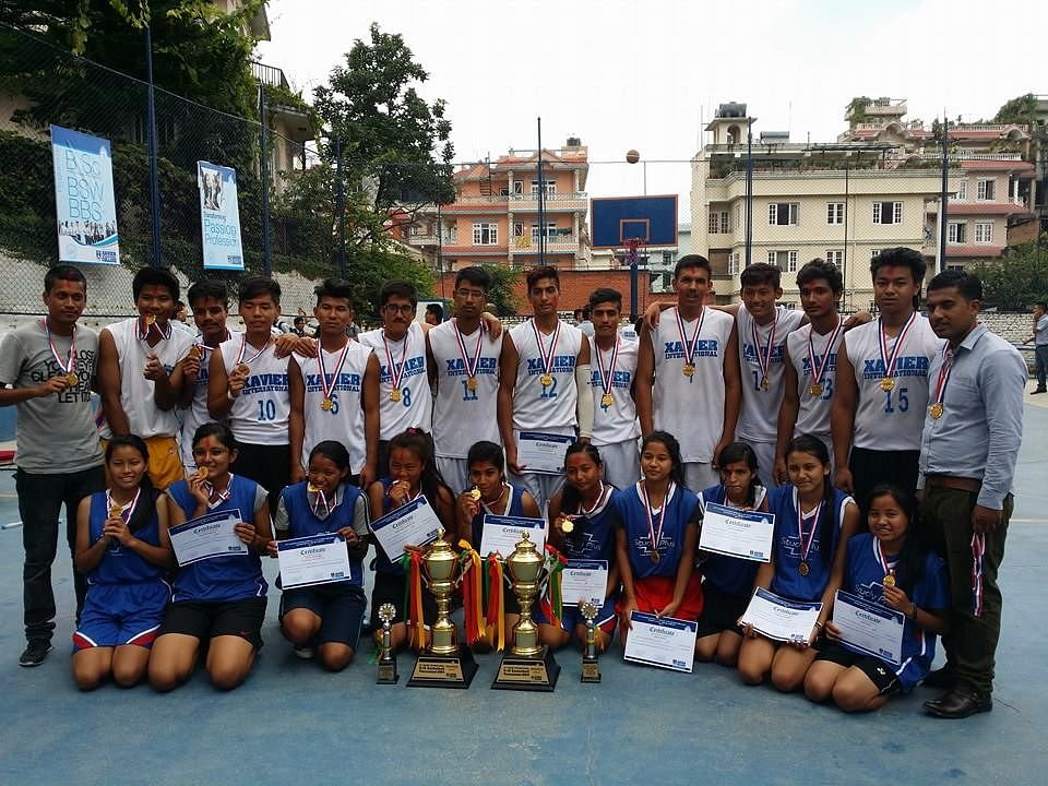 Xavier and Saipal win college basketball tournament in Nepal