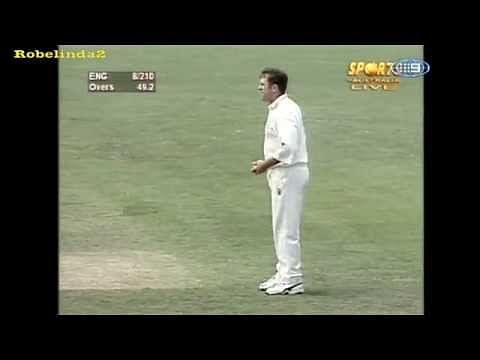 Video: Ball bounces twice and hits stumps; umpire denies dismissal