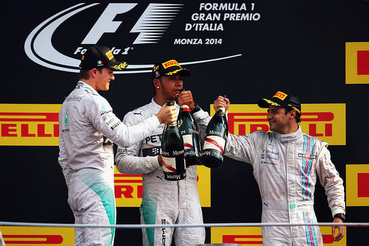 Lewis Hamilton reduces championship deficit to Nico Rosberg with victory at Monza