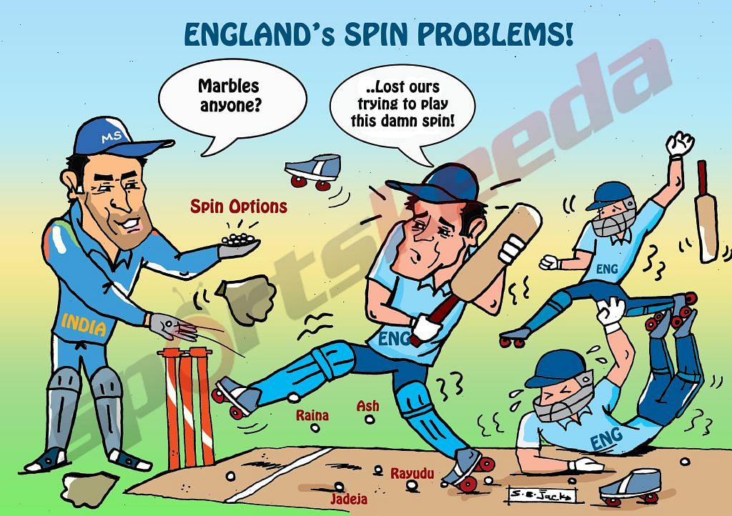 Comic: England's problems against spin