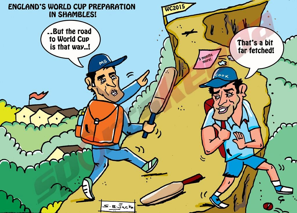 Comic: World cup - bit far fetched for England!