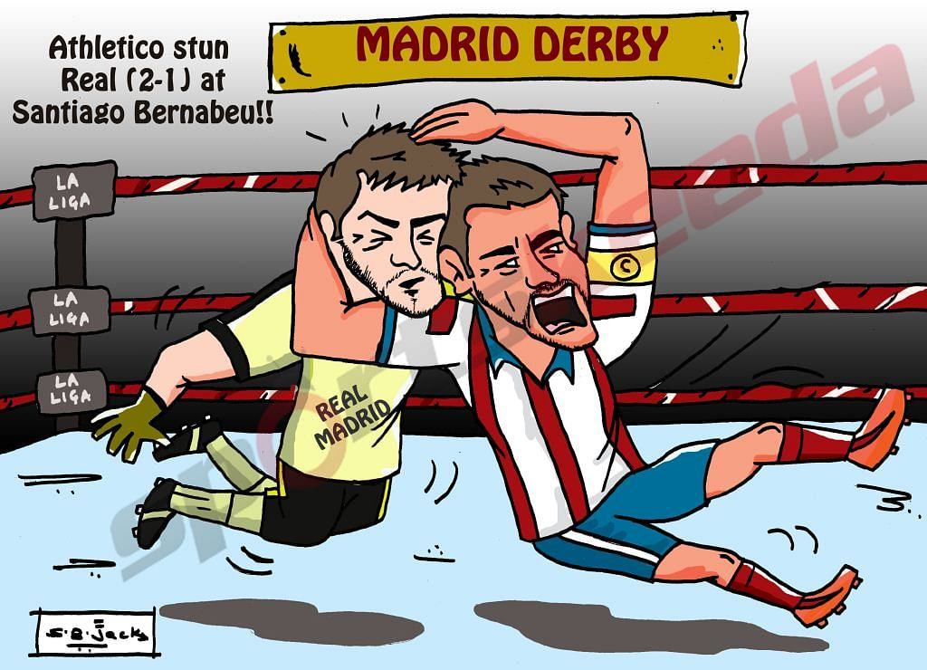 Atletico Madrid stun Real Madrid 2-1 in the Madrid derby