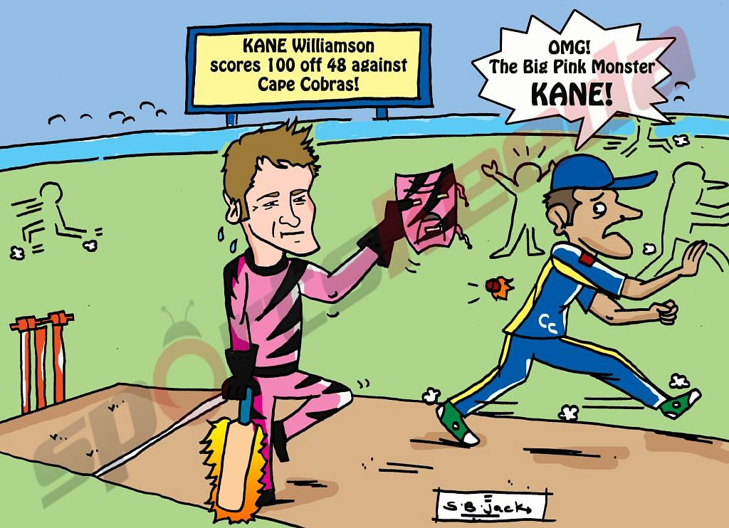 Comic: Kane Williamson - The Big Pink Monster