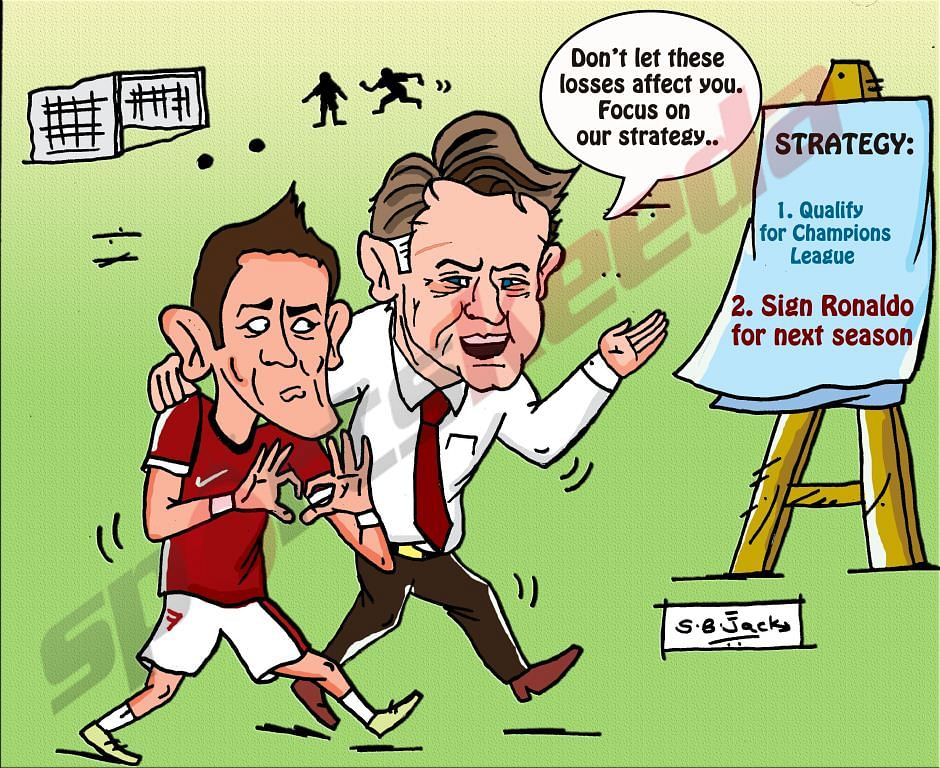 Comic: Manchester United's strategy after the Leicester City loss