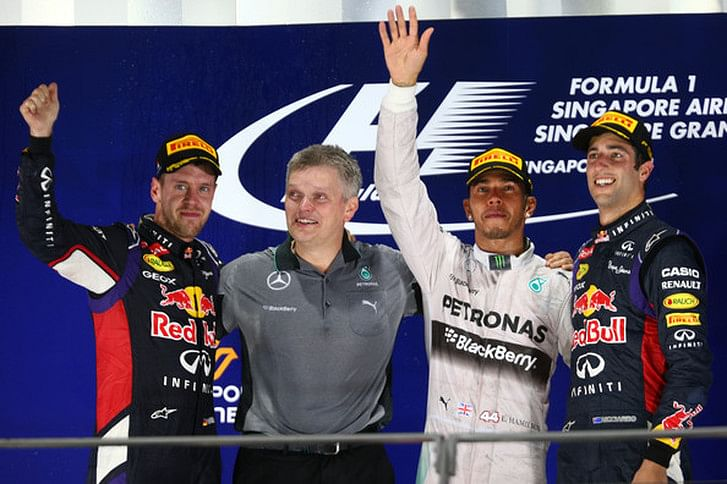 Top 10 tweets from the Singapore Grand Prix
