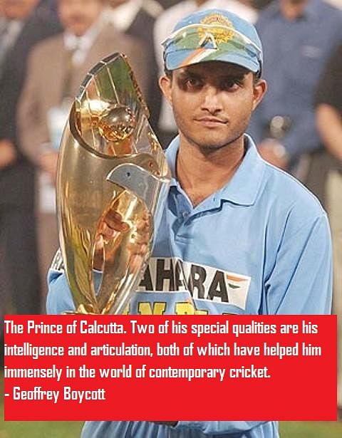 10 best quotes on Sourav Ganguly