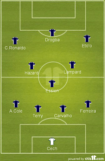 Jose Mourinho's Best XI of all time