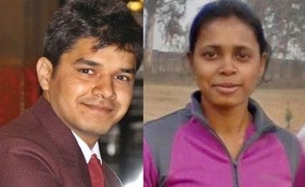 Indian archery stars - Trisha Deb and Abhishek Verma