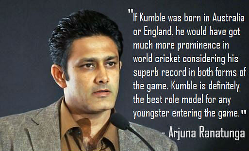 10 famous quotes by former cricketers on anil kumbles
