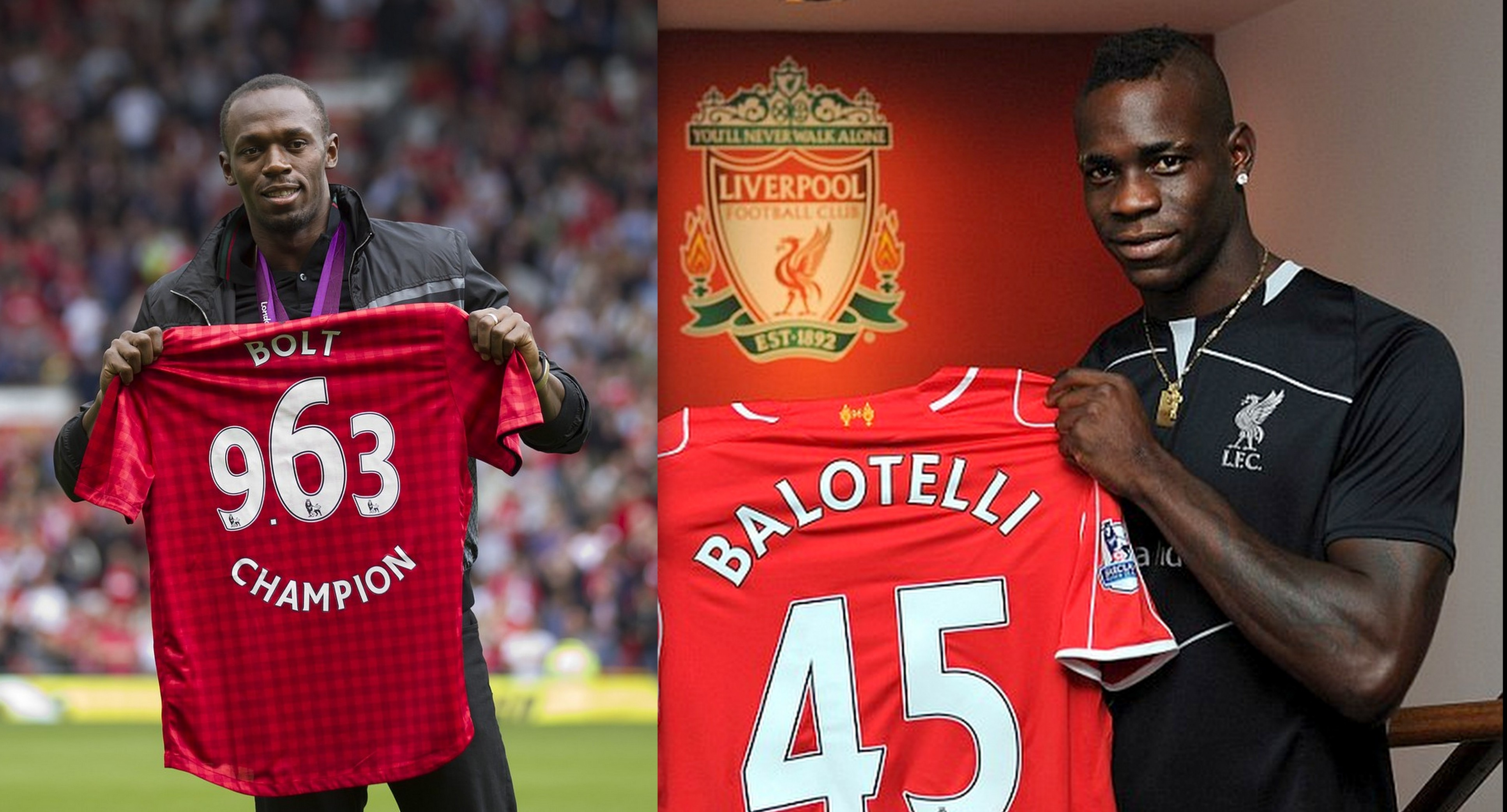 Manchester United fan Usain Bolt urged Mario Balotelli to sign for Liverpool