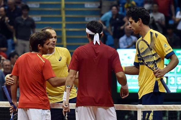 Davis Cup playoff: Brazil lead 2-1 against Spain