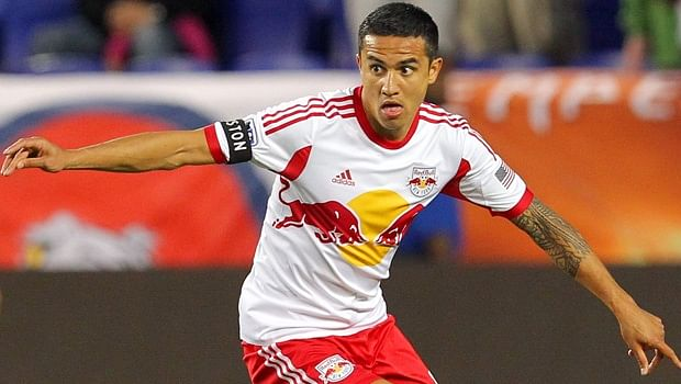 Tim Cahill launches FIFA 15 in New York