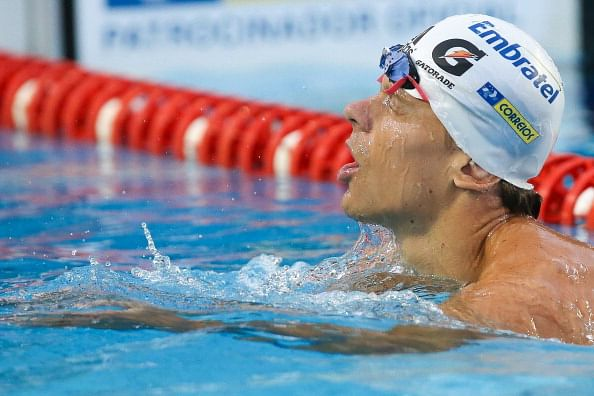Cesar Cielo sets fastest 50m freestyle time of 2014