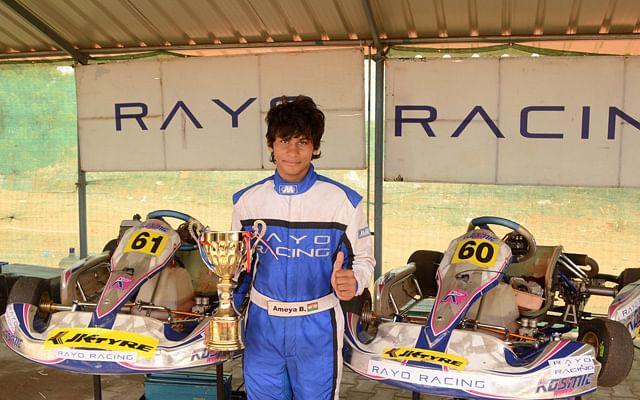 JK Tyre-FMSCI National Rotax Max Karting: Chittesh Mandody takes pole position from Vishnu Prasad