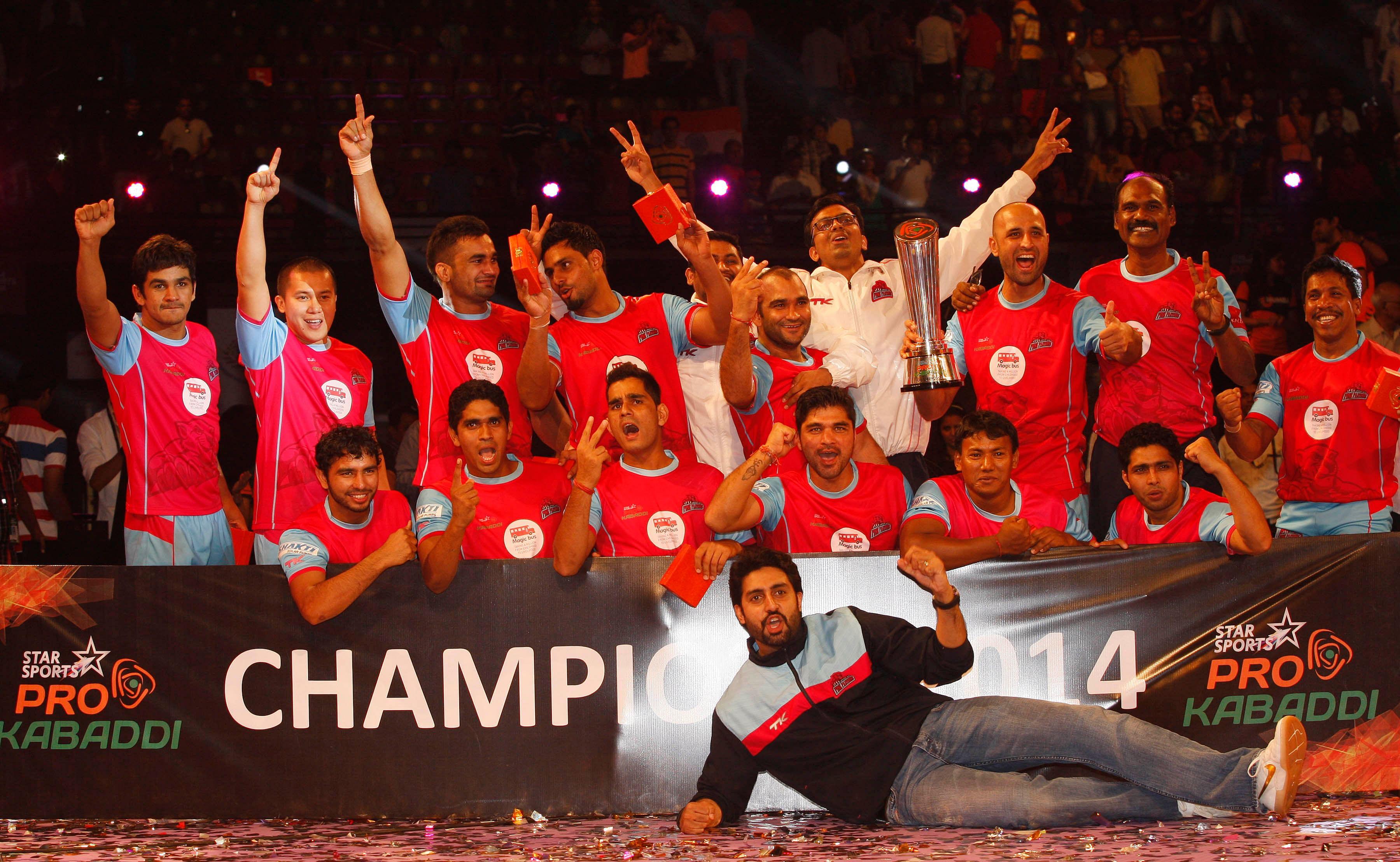 Jaipur Pink Panthers champions of inaugural Pro Kabaddi League