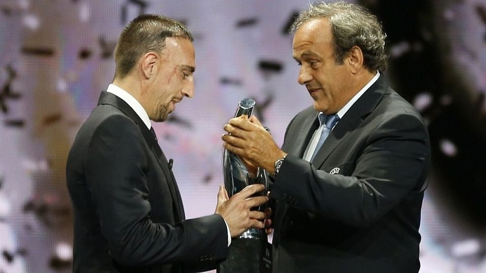 Michel Platini threatens Franck Ribery with ban if he retires from international football