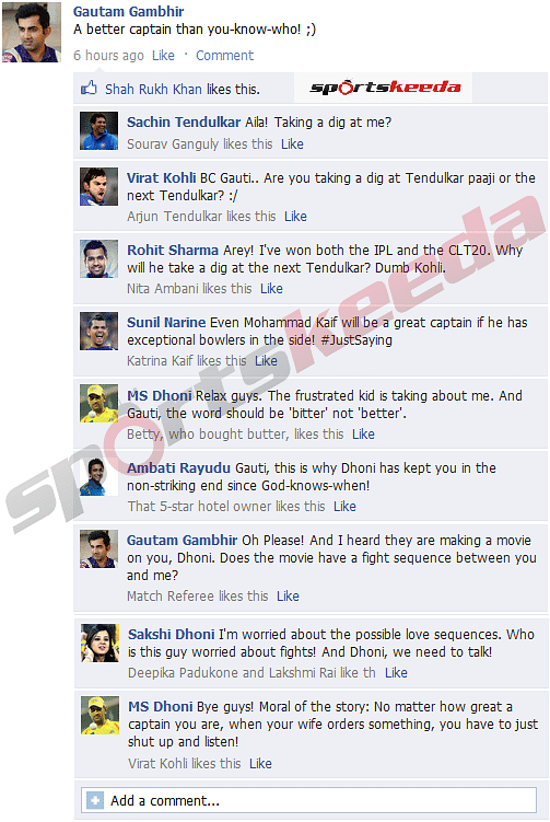 FB Wall: Gambhir vs Dhoni - Who is the better captain?