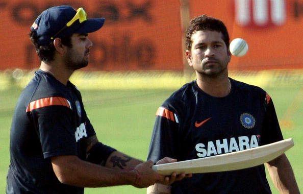 Virat Kohli training under Sachin Tendulkar to sort out his off-stump technique in Mumbai