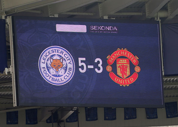 Twitter reaction: Newly promoted Leicester City beat Manchester United 5-3
