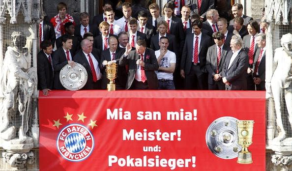 Video: Louis van Gaal's hilarious victory speech after Bayern Munich won the double in 2010