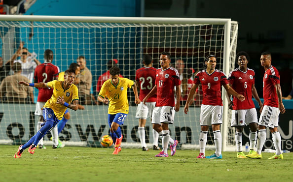 Video: Neymar free kick gives Brazil 1-0 win over Colombia