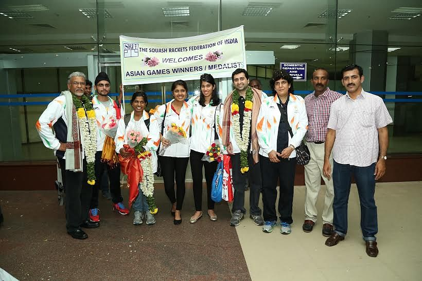 Asian Games 2014: Grand welcome for Indian squash players