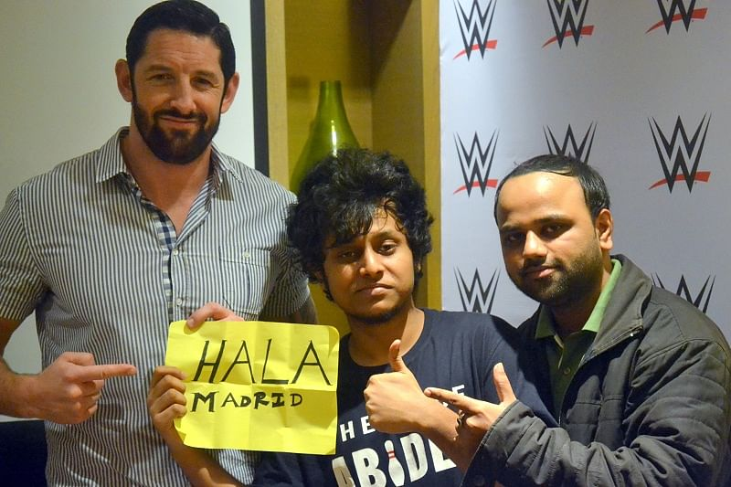 Wade Barrett, Shubham Mazumdar and Snehartha Dey