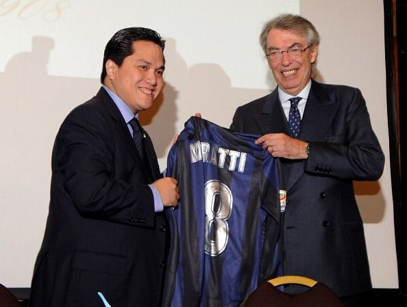 Massimo Moratti ends his 20-year association with Inter Milan.