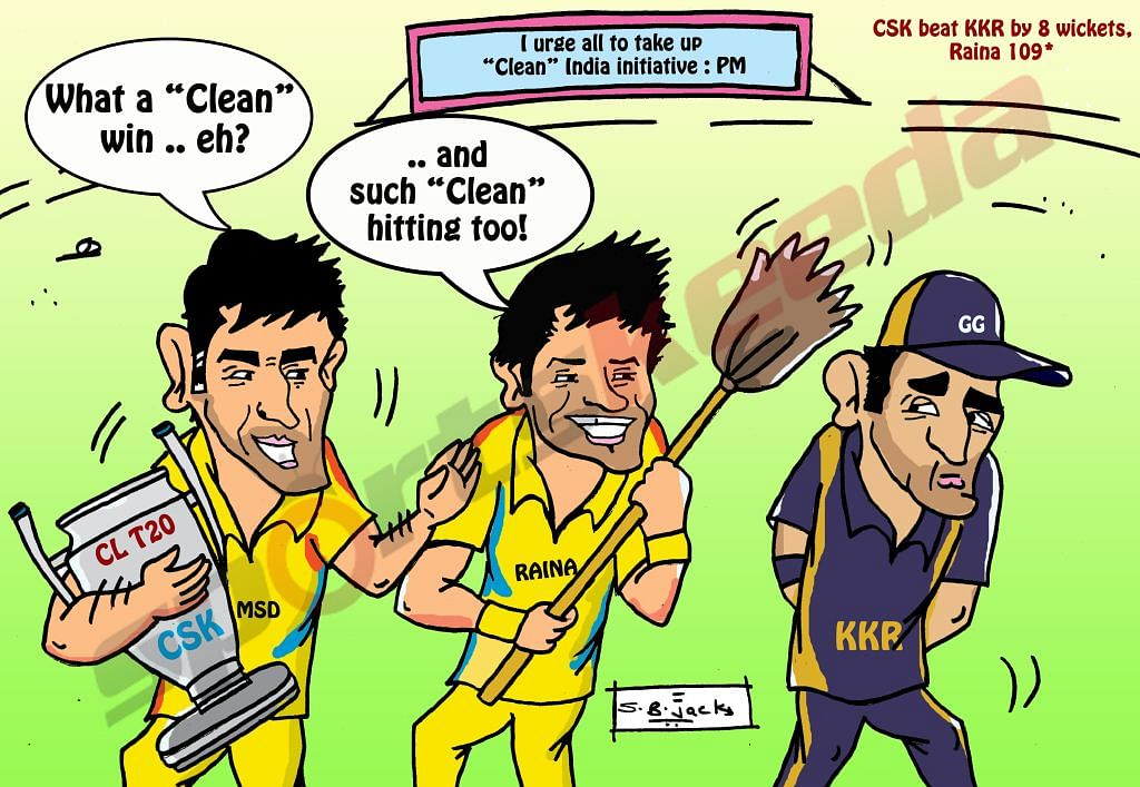 Comic: Chennai Super Kings follow PM's initiative