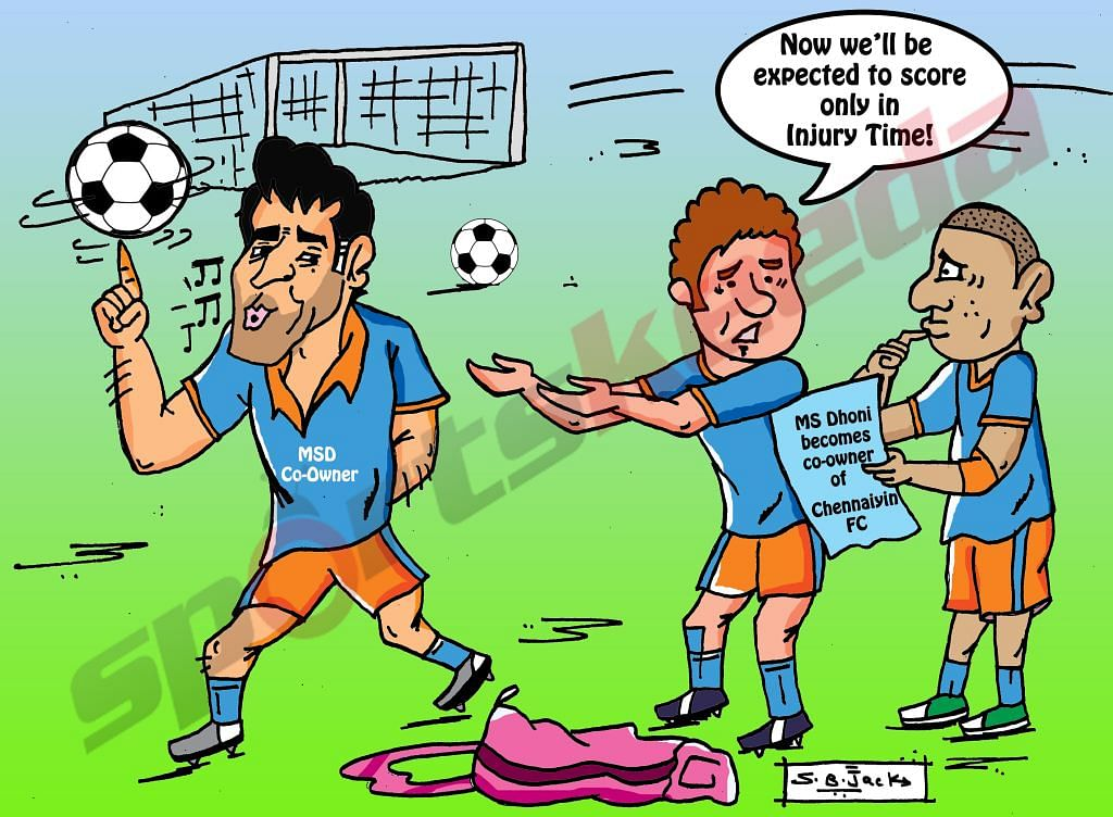 Comic: MS Dhoni becomes co-owner of Chennaiyin FC