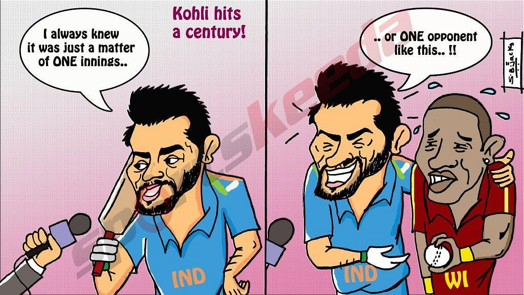 Comic: Virat Kohli back in form