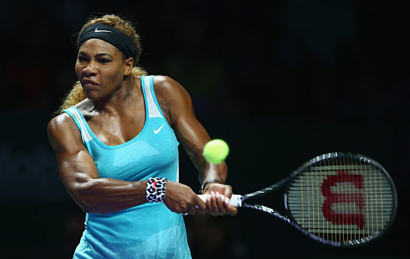 Serena Williams sets up clash with Simona Halep in the final of WTA finals