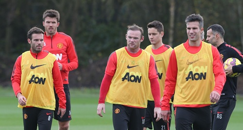 Gallery: Manchester United's training ahead of the Derby – Wayne Rooney is back!