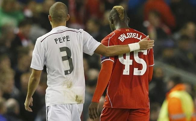 Mario Balotelli to be fined by Liverpool for swapping shirts with Pepe at Half-time