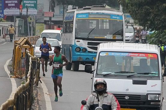 Bangalore marathon runners got lost and had to take the metro to finish line