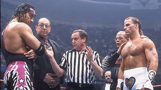 Bret Hart makes his peace with referee Earl Hebner