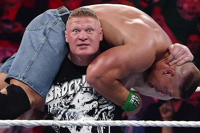 WWE teases a dream match between Brock Lesnar and Randy Orton in WWE 2K15