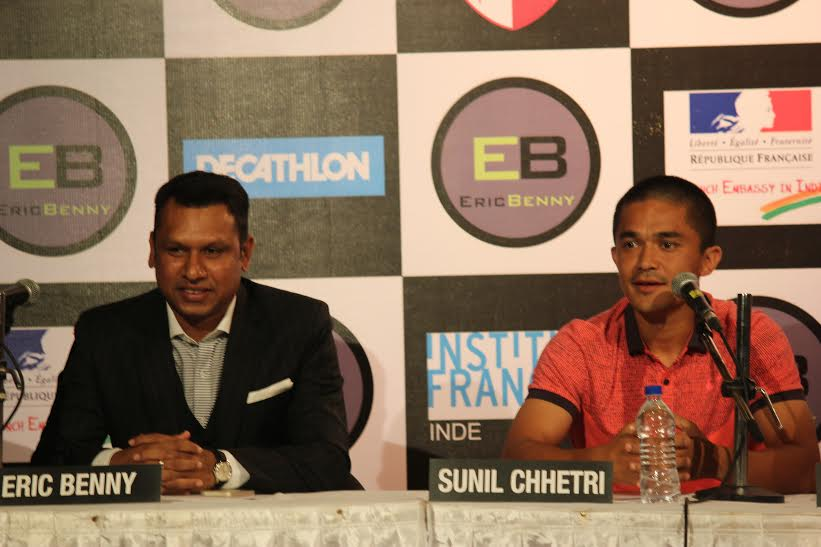 Sunil Chhetri and Eric Benny take a positive step towards Grassroots Football in Bangalore
