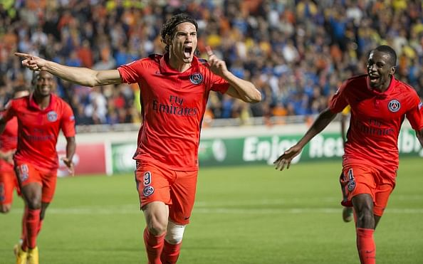 Paris Saint-Germain president hails Edinson Cavani as the world's best striker